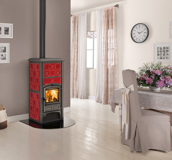 Gas heating stove thermostat