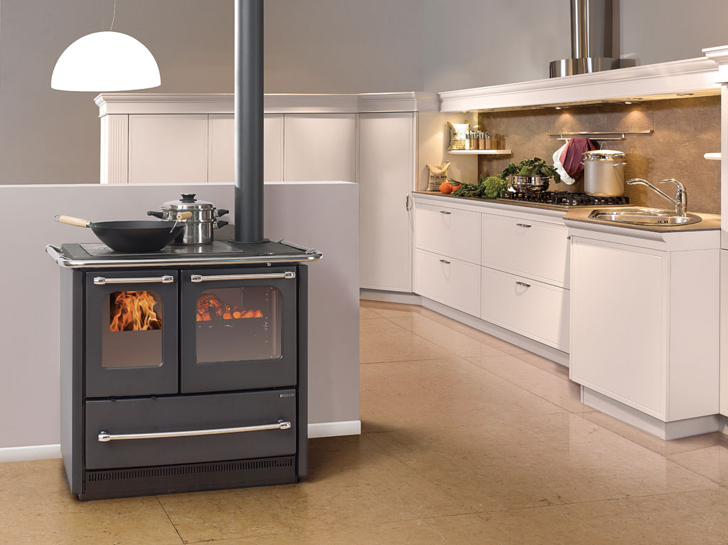 Cucine a legna sovrana easy la nordica extraflame - Cocinas bilbainas calefactoras ...