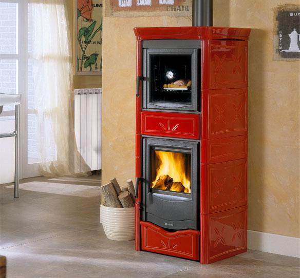 Stufe a legna termonicoletta forno d s a la nordica - Stufe a legno nordica ...