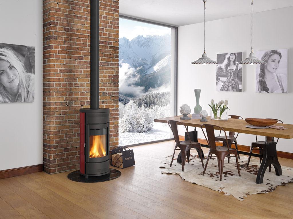 stufe a legna helga evo la nordica extraflame. Black Bedroom Furniture Sets. Home Design Ideas