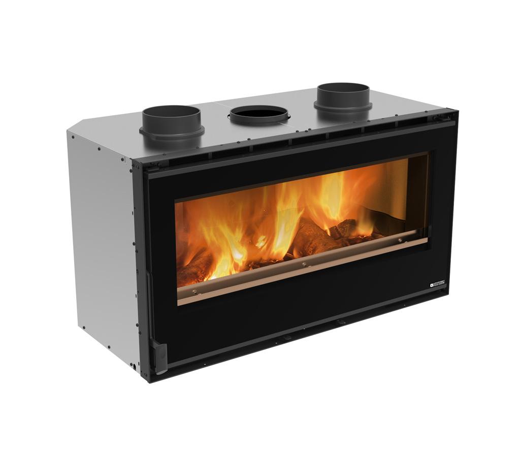 Caminetti a legna inserto 100 crystal ventilato la for Inserti per camini a pellet edilkamin prezzi