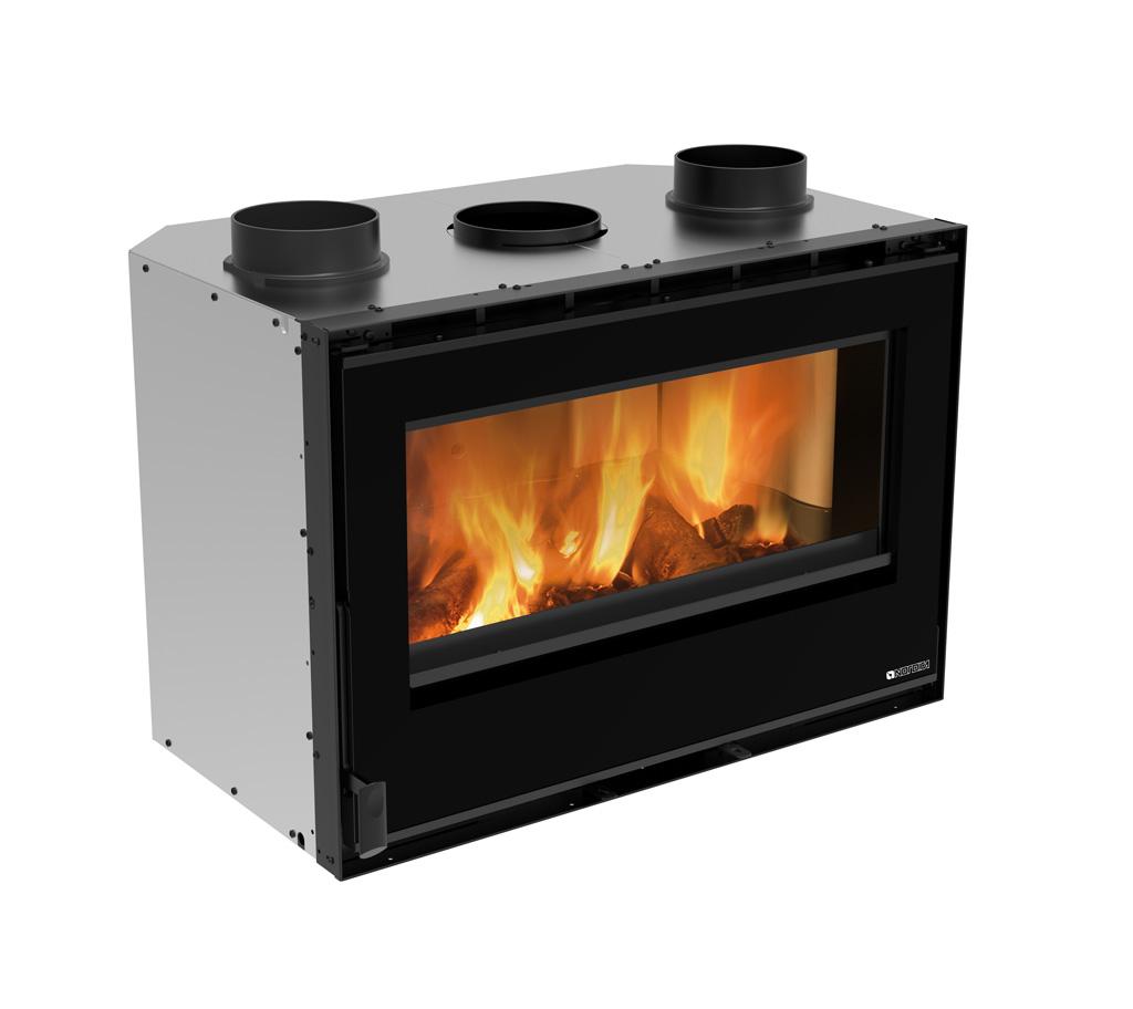 Caminetti a legna inserto 80 crystal evo 2 0 ventilato for Inserto camino