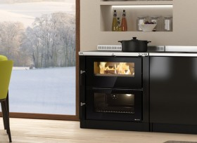 Wood burning insertable kitchens