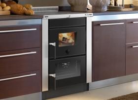 Wood burning insertable kitchens