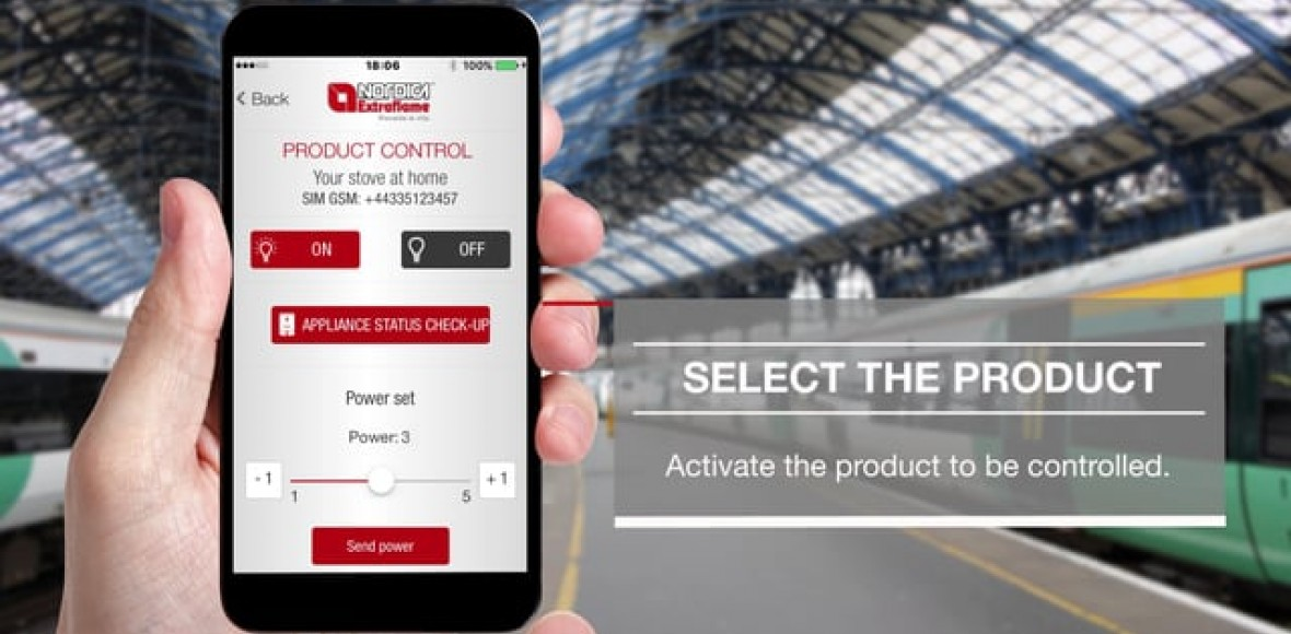 Easy Access: control your pellet stove via SMS with new app La Nordica-Extraflame
